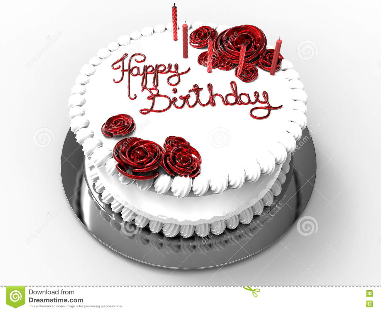 Happy Birthday Festive Cake Stock Illustration Illustration Of