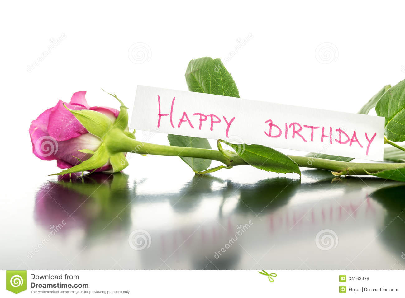 Happy Birthday Flower Stock Image Image Of Celebration 34163479