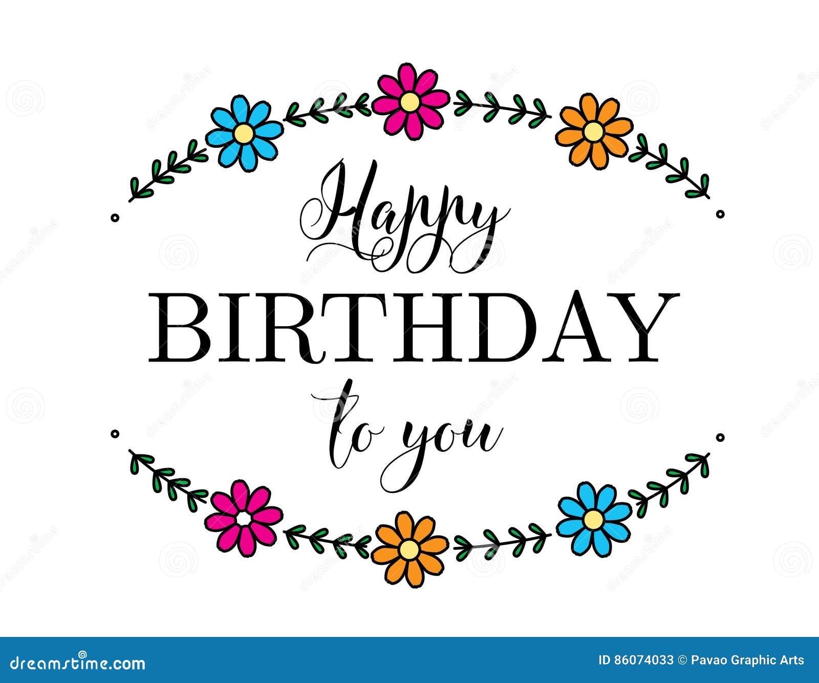 Happy birthday flower card stock vector illustration of card 86074033 happy birthday flower card izmirmasajfo