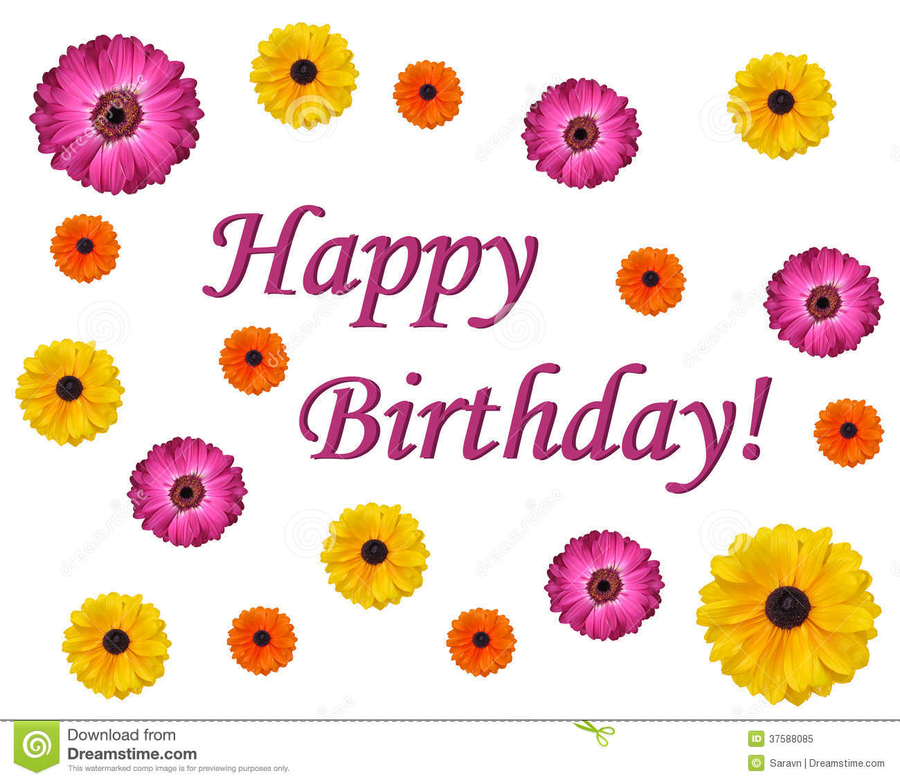 happy birthday flower stock photo  image, Natural flower