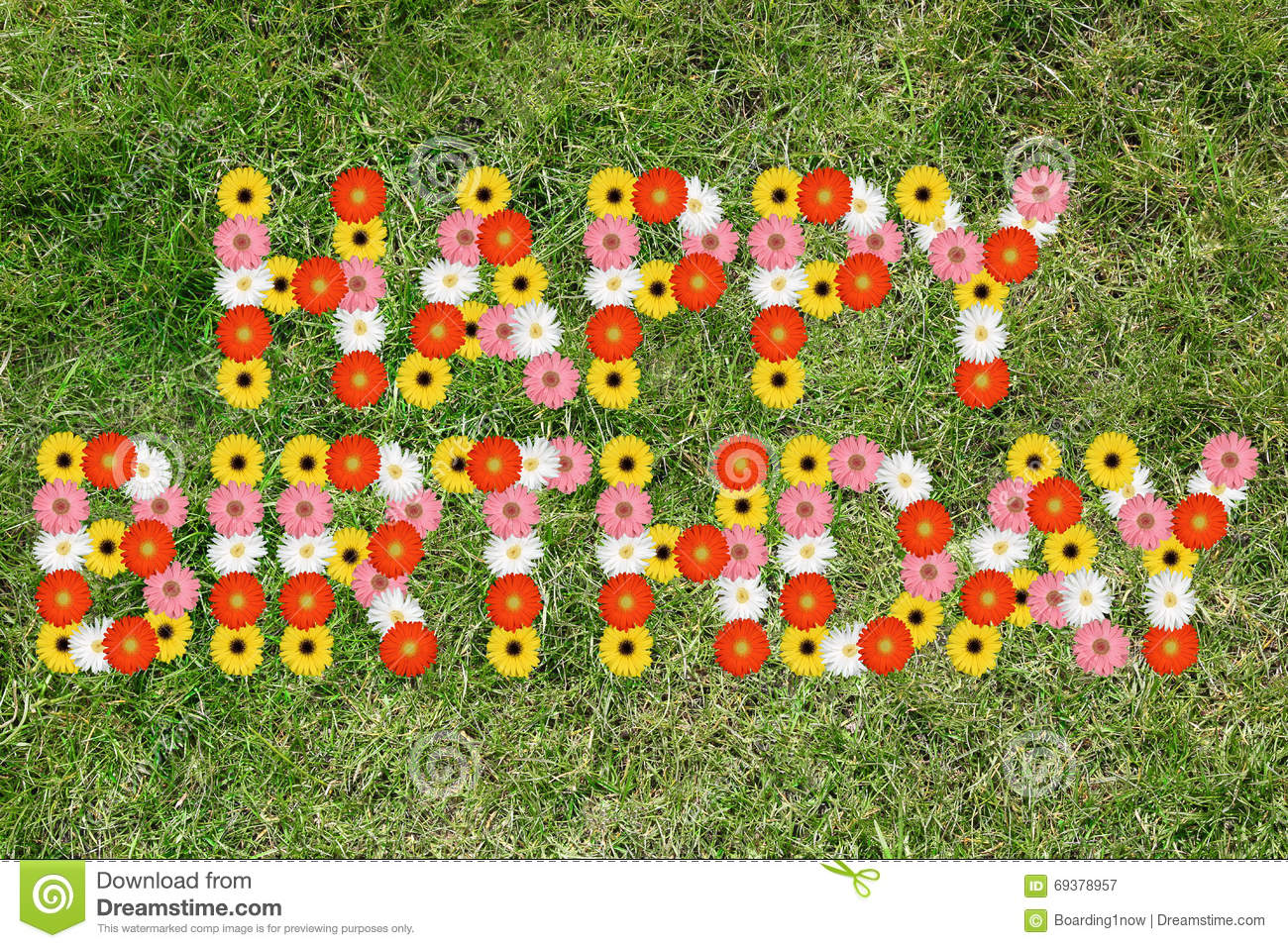 Happy birthday with flowers flower nature meadow stock image image happy birthday with flowers flower nature meadow izmirmasajfo