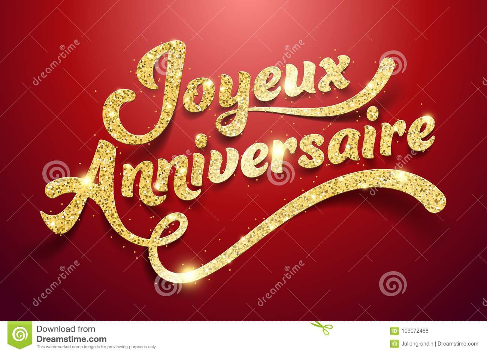 Happy Birthday In French : Joyeux Anniversaire Stock