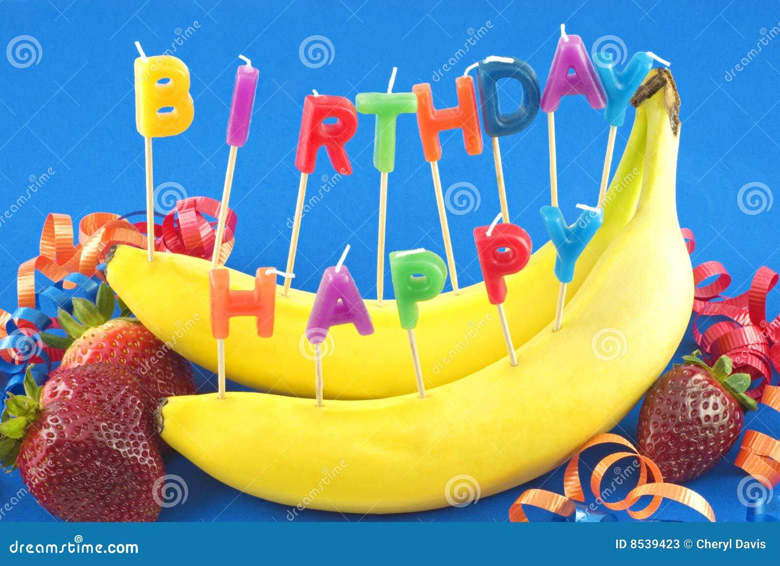 Happy Birthday Fruit Stock Photos Image 8539423