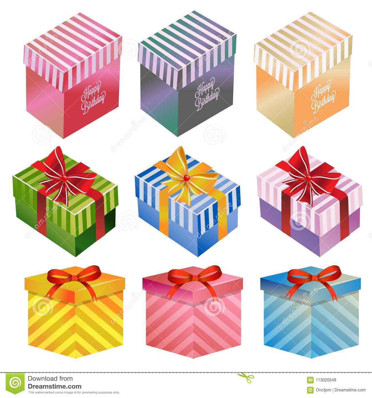 Happy Birthday Gift Box Set In Theme
