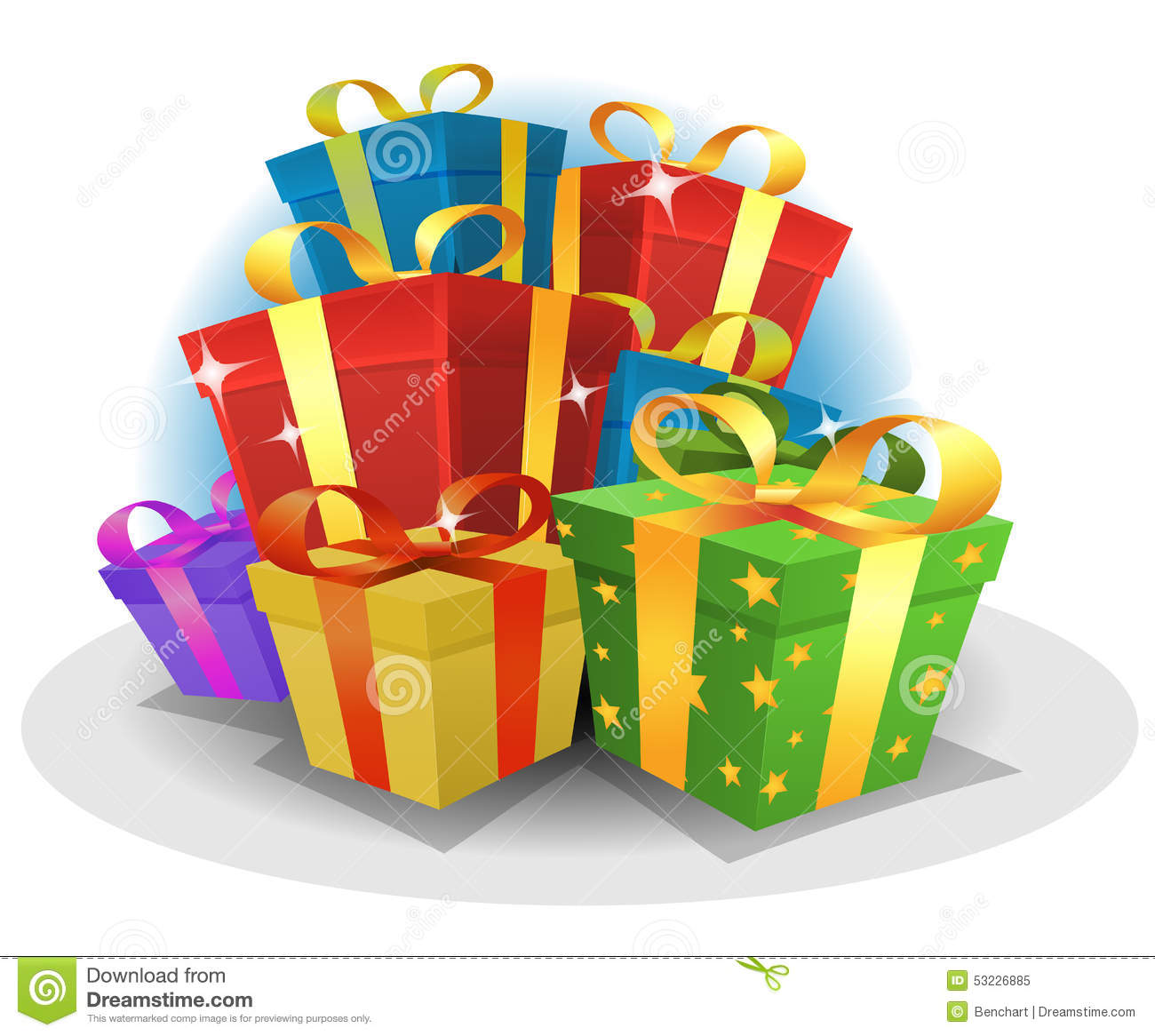 Happy Birthday Gifts Pack Stock Vector. Illustration Of