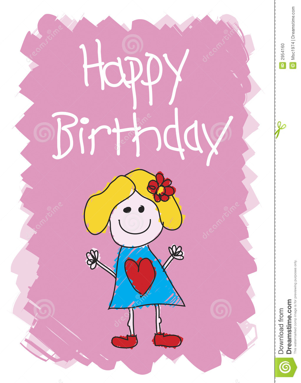 Girl Birthday Card gangcraftnet – Happy Birthday Card for Little Girl
