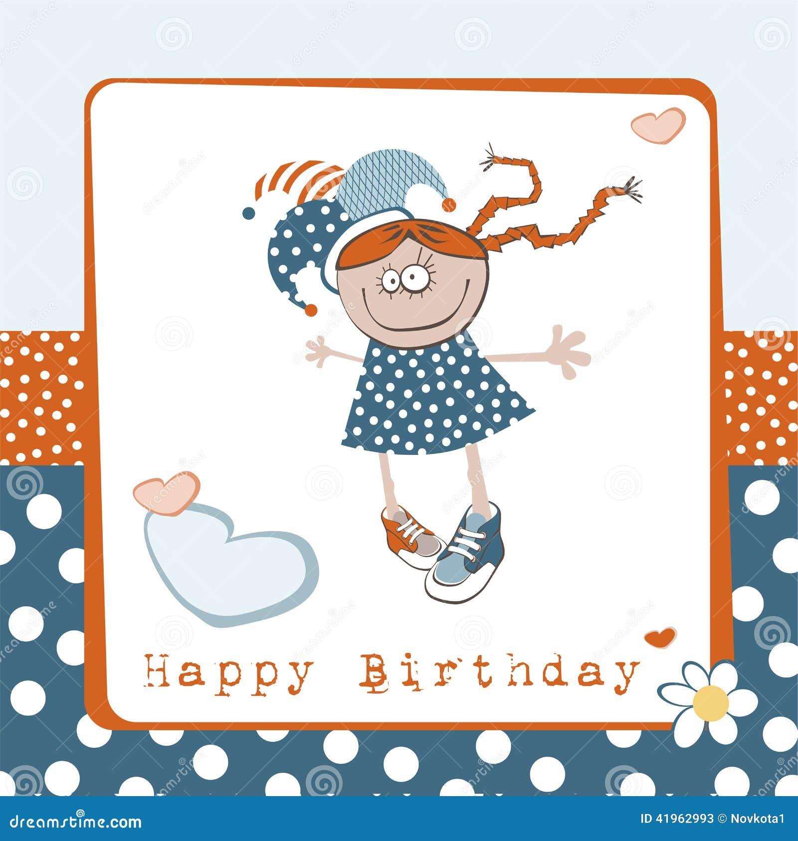 Happy Birthday Girl Illustration ~ Happy birthday girl stock illustration image