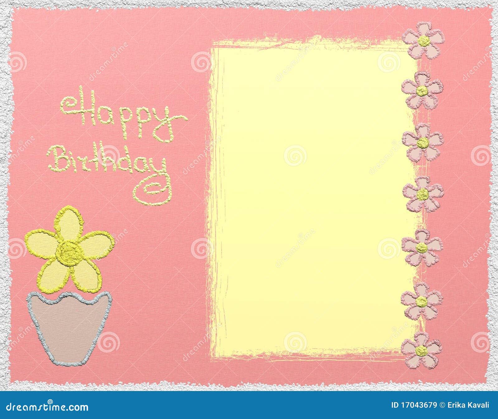 Happy birthday glitter card
