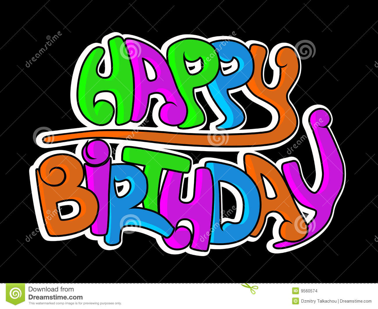 Happy Birthday Schrift Graffiti ~ Happy birthday graffiti stock images image
