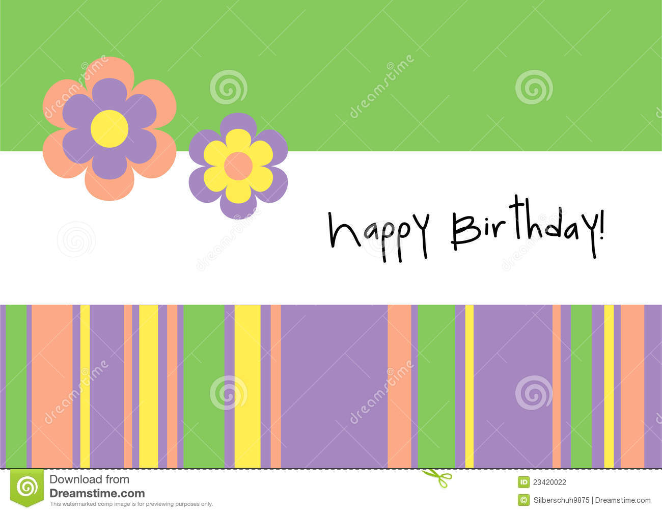 Happy birthday greeting card stock vector illustration of happy birthday greeting card kristyandbryce Images