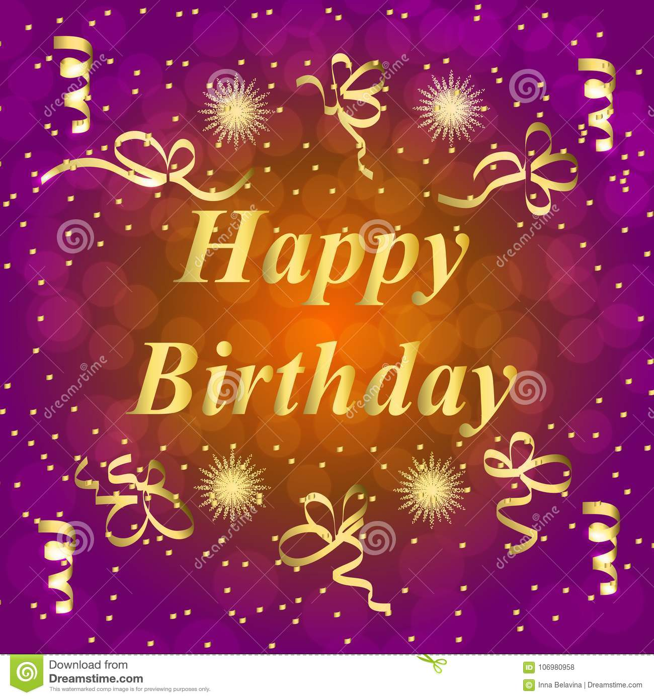 Happy Birthday Greeting Card Brightly Colorful Illustration Happy