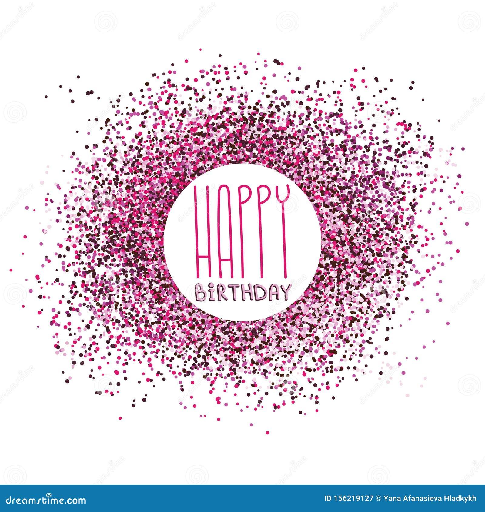 Happy birthday greeting card celebration postcard template