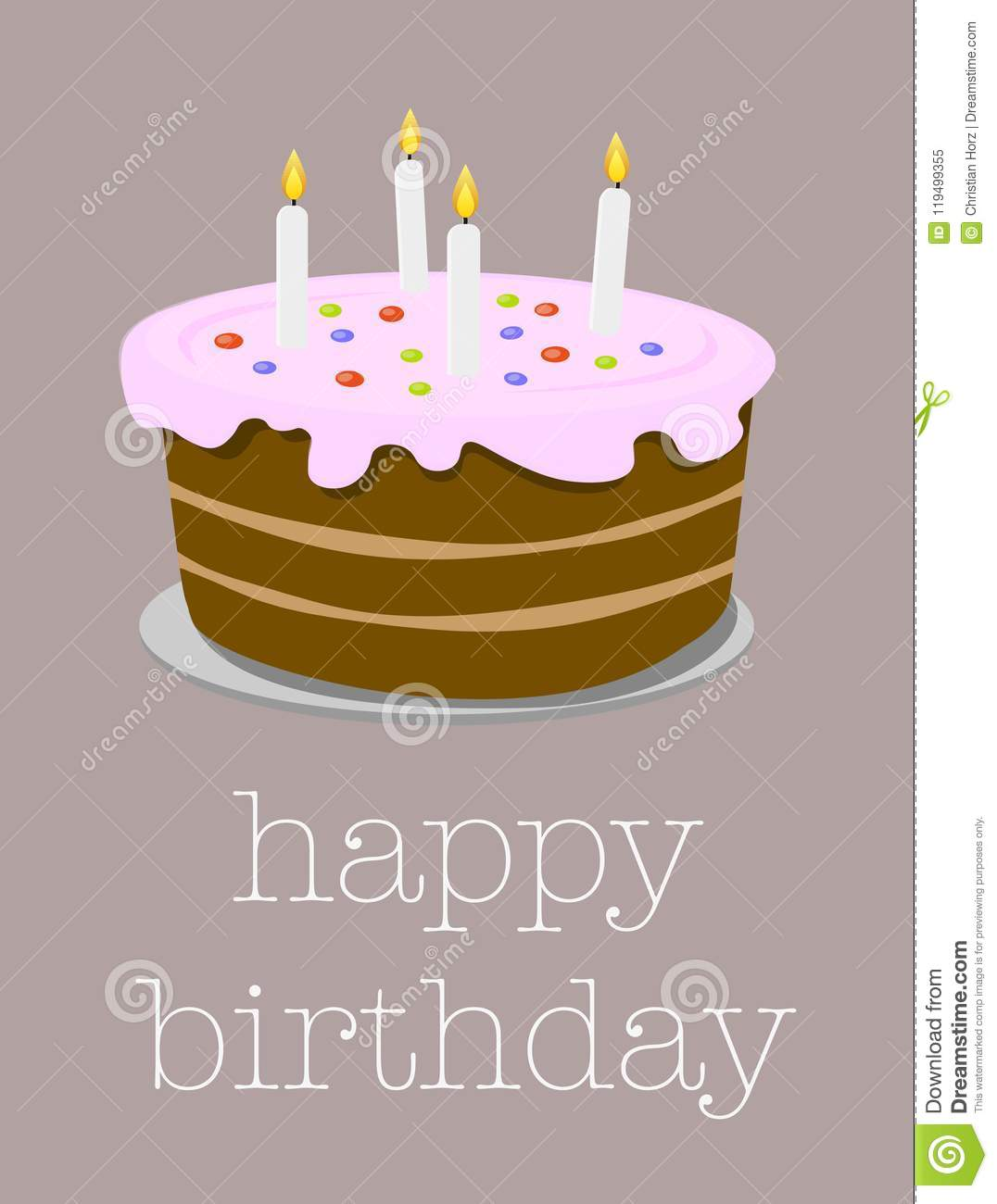 Happy birthday greeting card with birthday cake illustration stock download happy birthday greeting card with birthday cake illustration stock vector illustration of happiness m4hsunfo