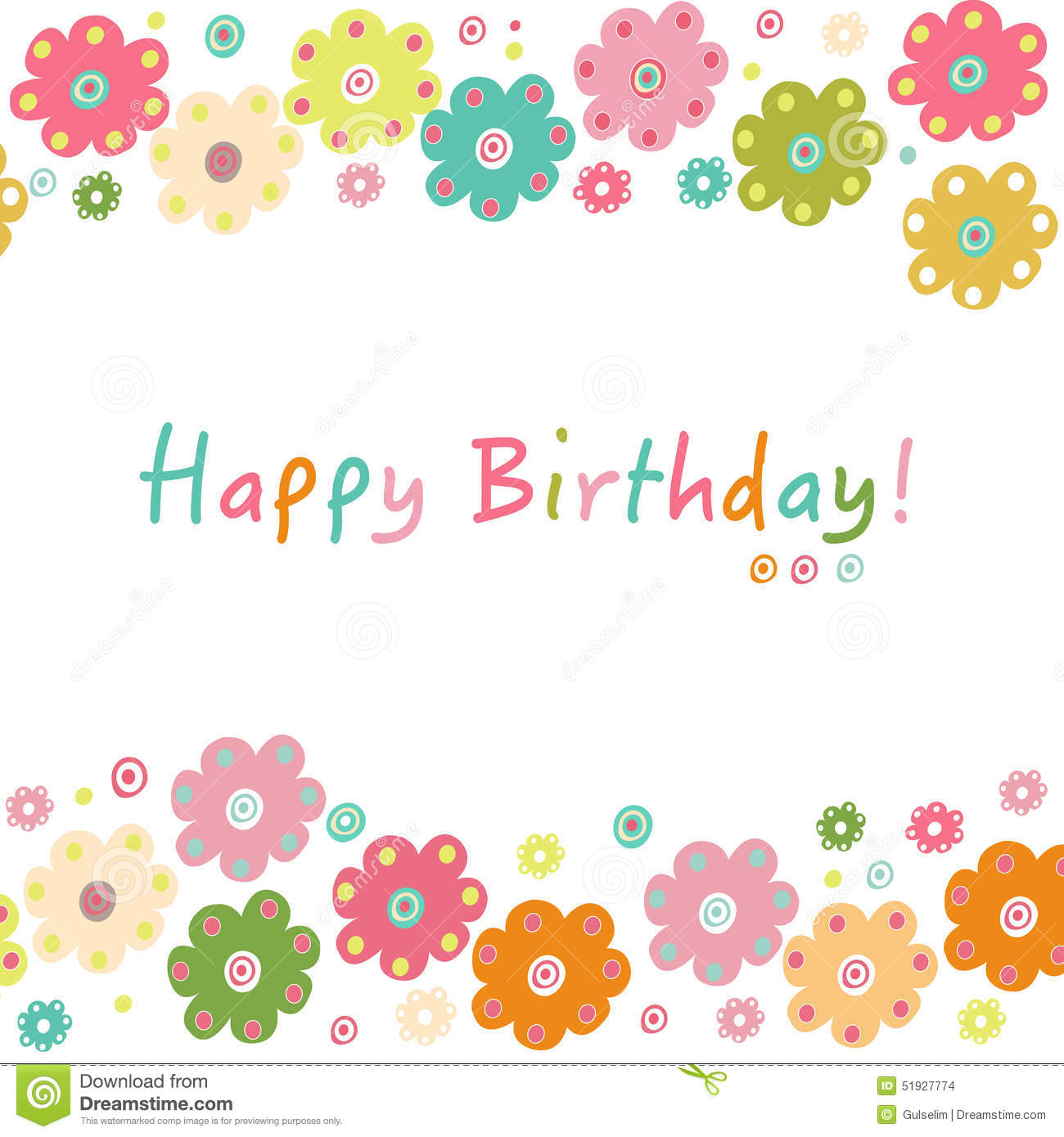 colorful happy birthday greeting card royalty free stock, Birthday card