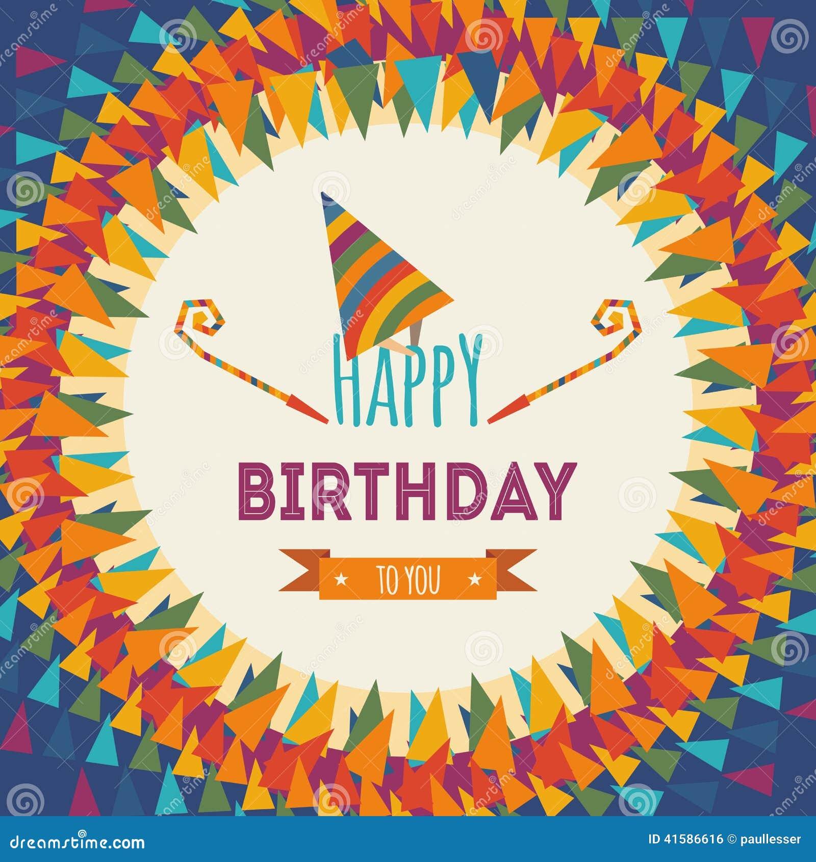 happy birthday greeting card stock vector