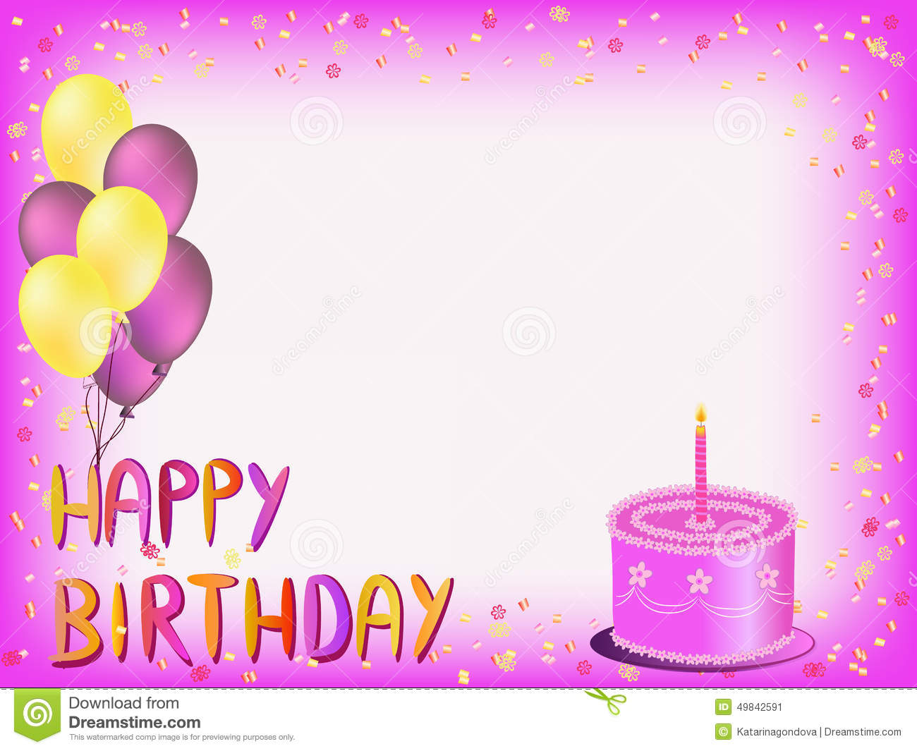 Happy Birthday Greeting Card Stock Illustration Illustration Of