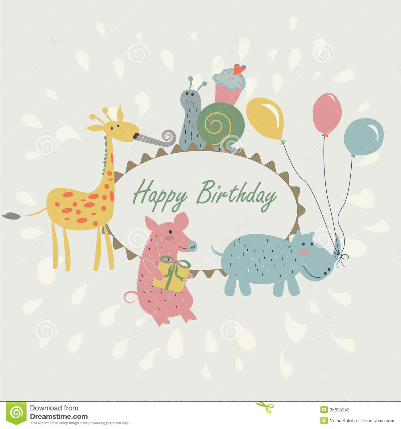Happy birthday greeting card stock vector illustration of design happy birthday greeting card kristyandbryce Gallery