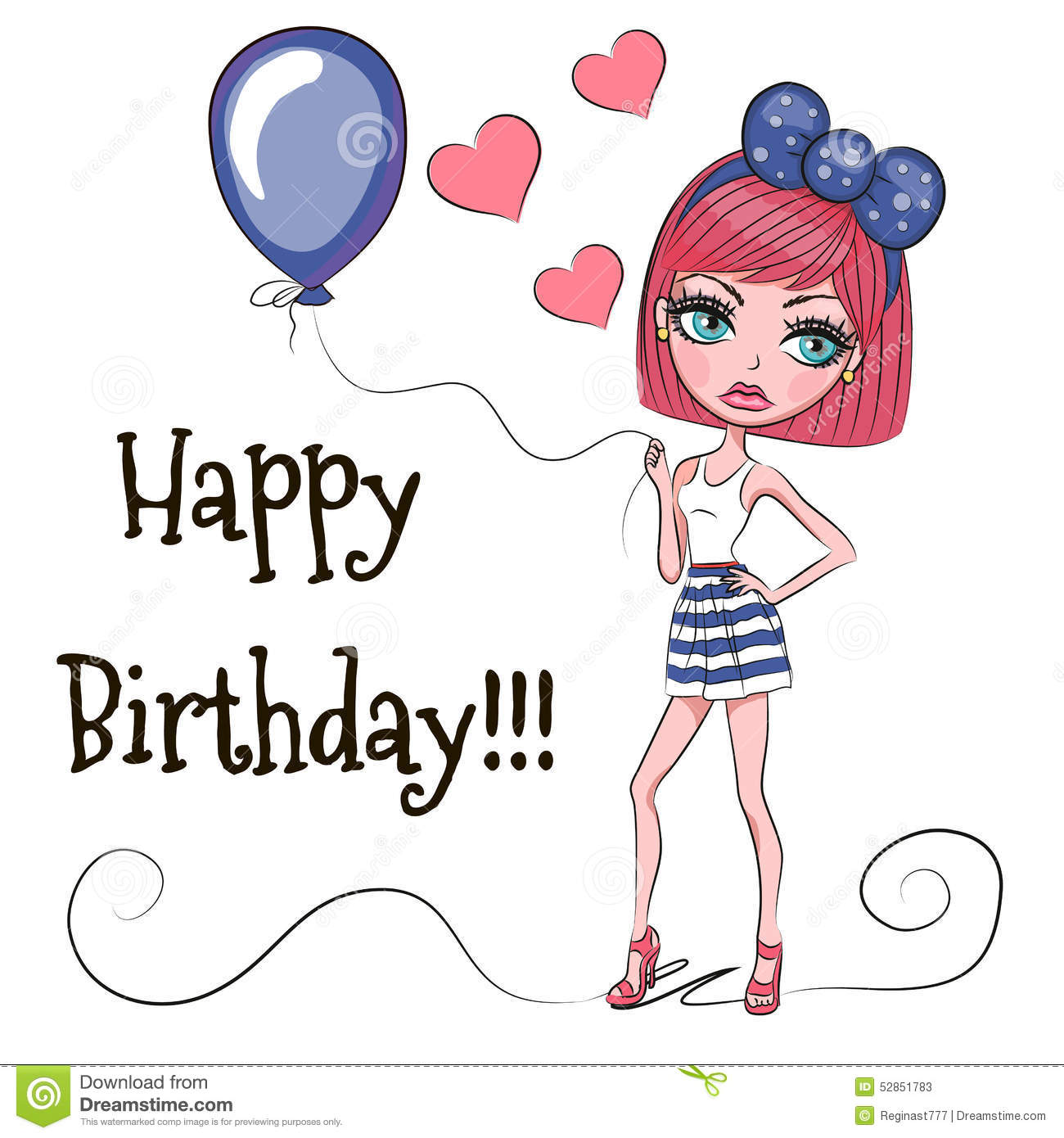 Open Female Happy Birthday Card Pretty Pink Balloons By Greeting Free P P 5052738585422 Ebay