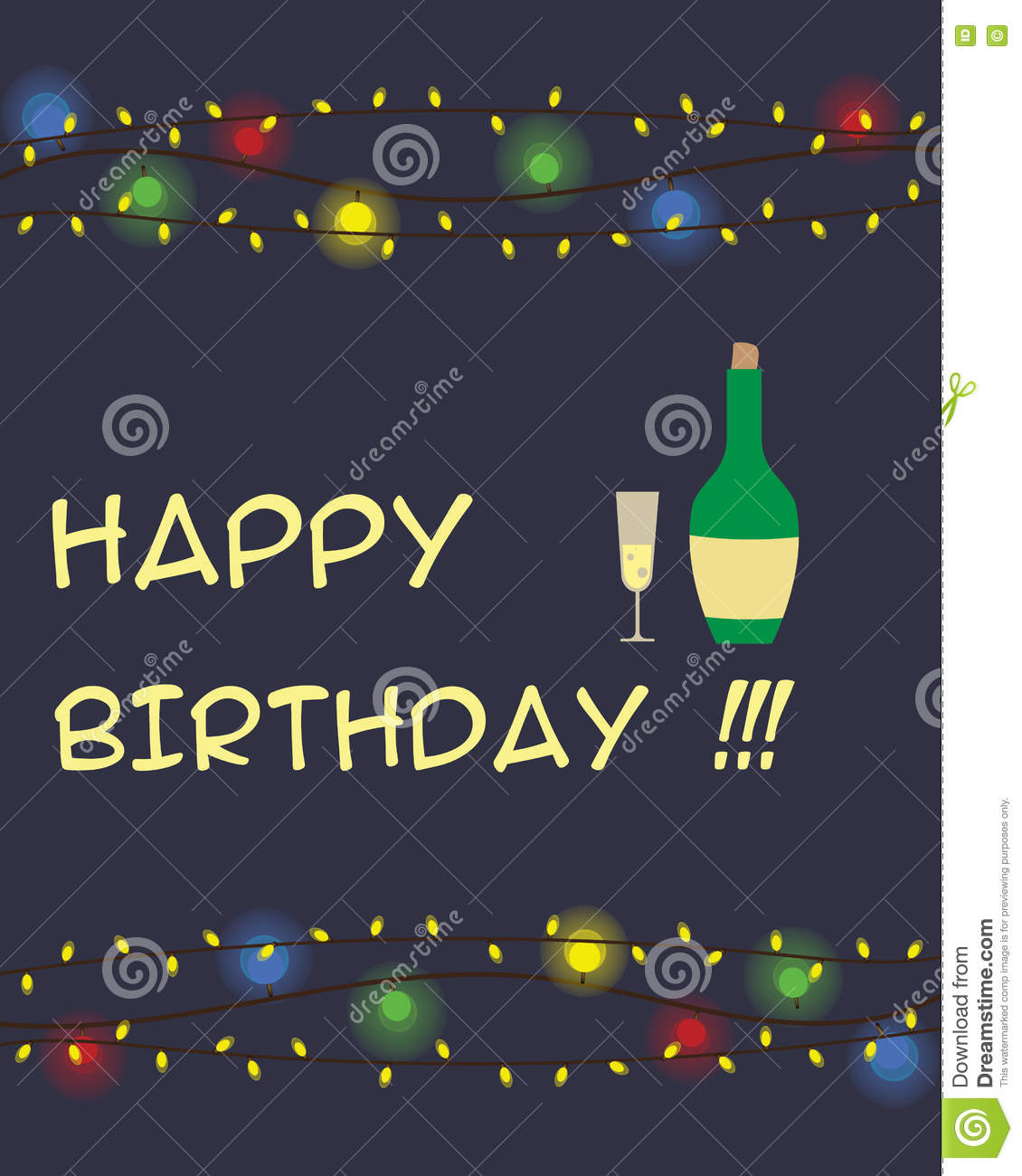 Happy Birthday Greeting Card Stock Vector Illustration Of Template