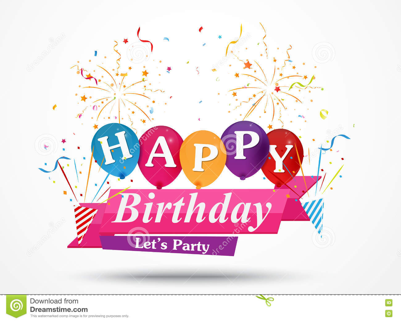 Happy birthday greeting card design stock vector illustration of happy birthday greeting card design m4hsunfo