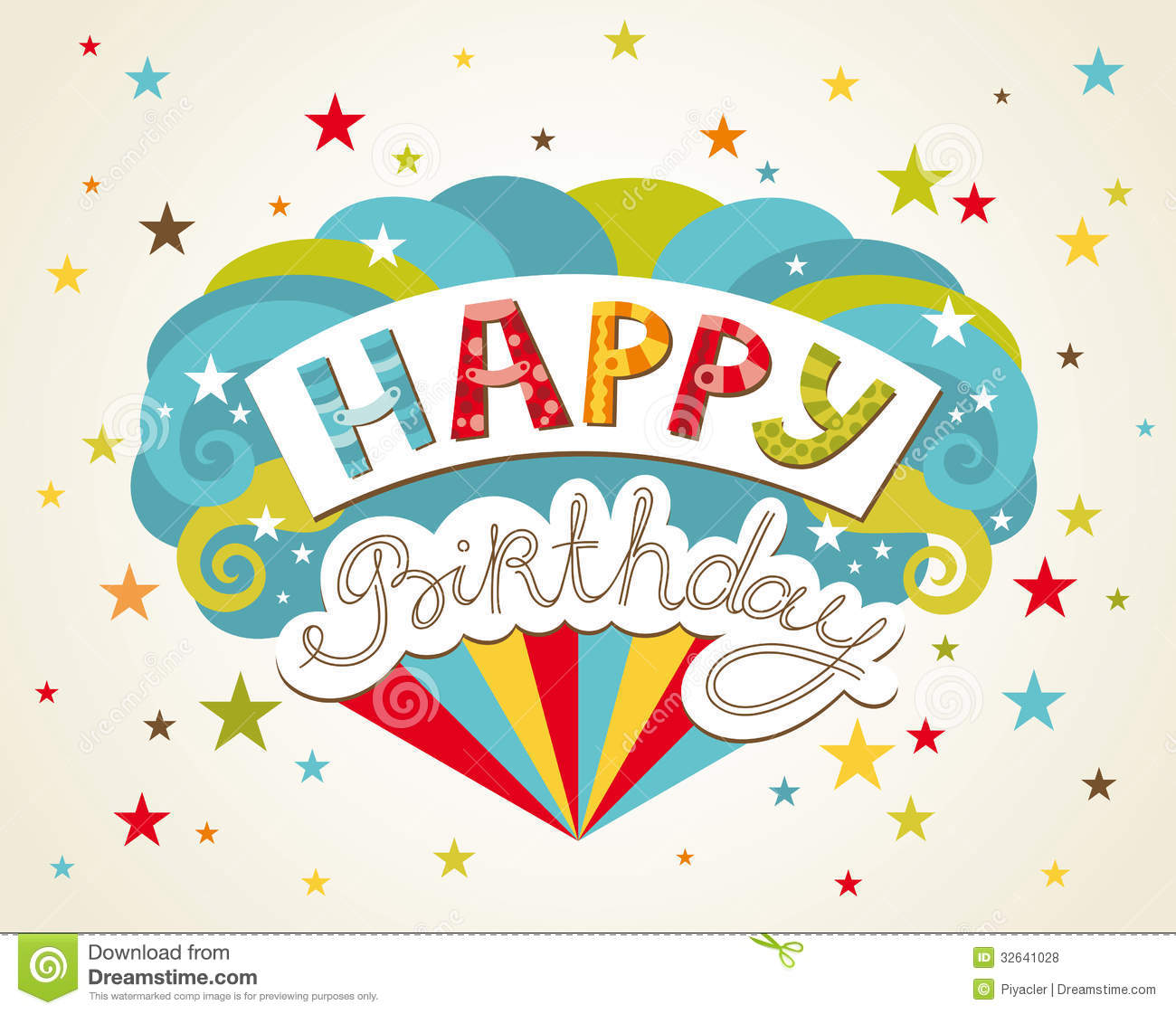 happy birthday  greeting card stock photography  image, Birthday card
