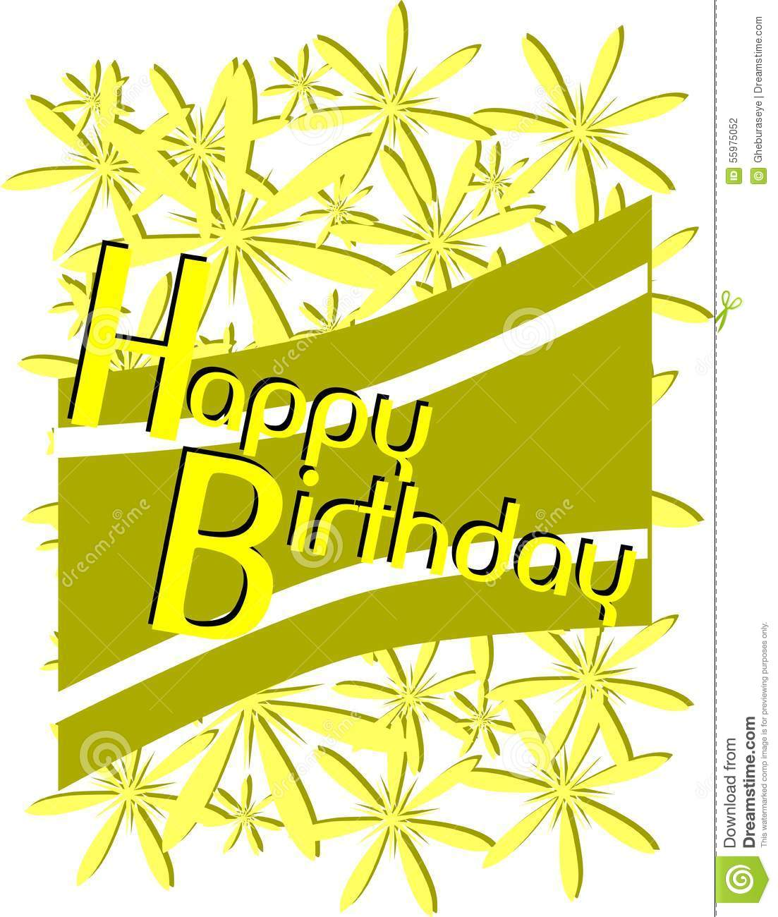 Happy birthday greeting card with flowers stock vector download comp izmirmasajfo