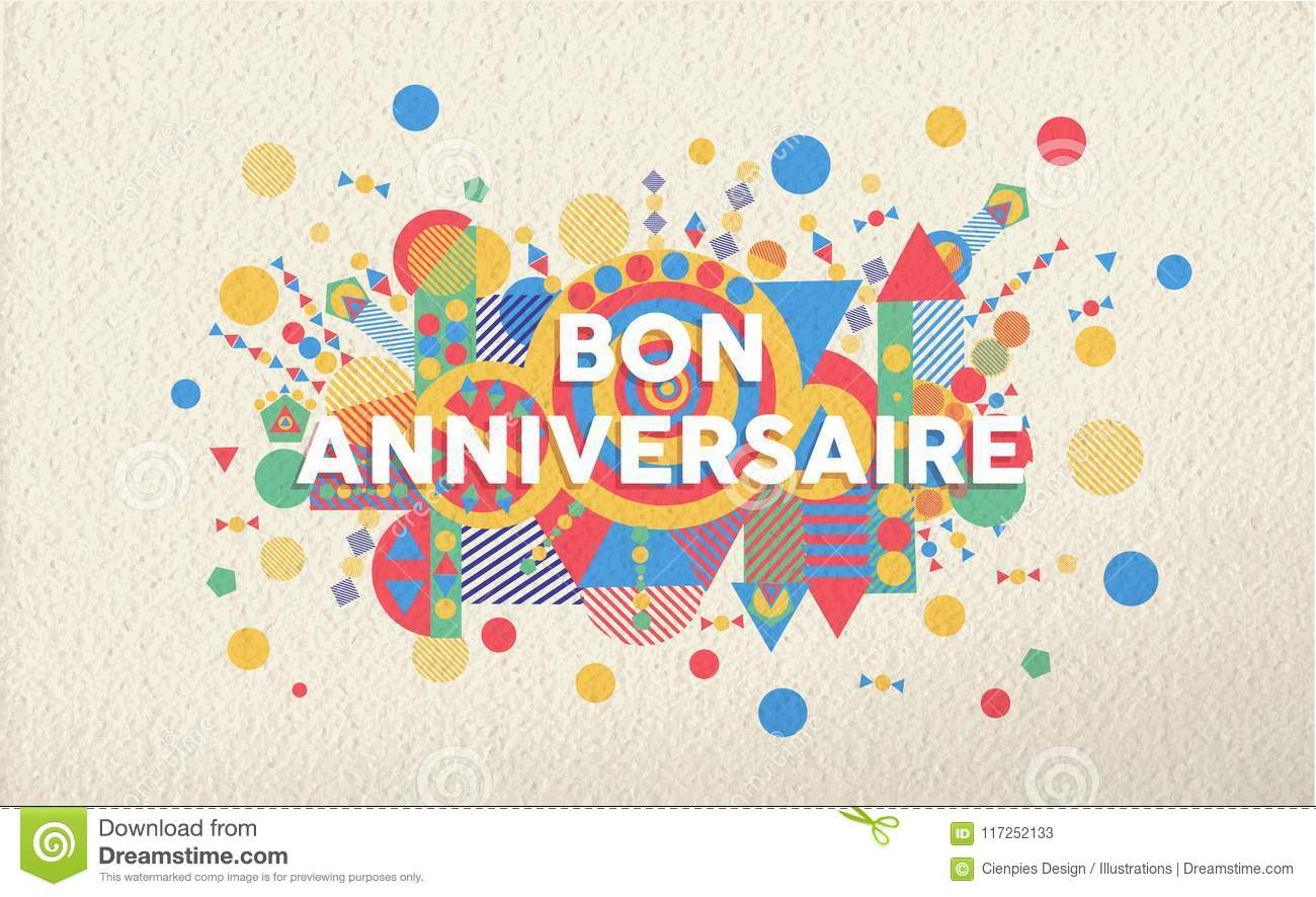 Happy birthday greeting card in french language stock vector download happy birthday greeting card in french language stock vector illustration of shape decoration m4hsunfo