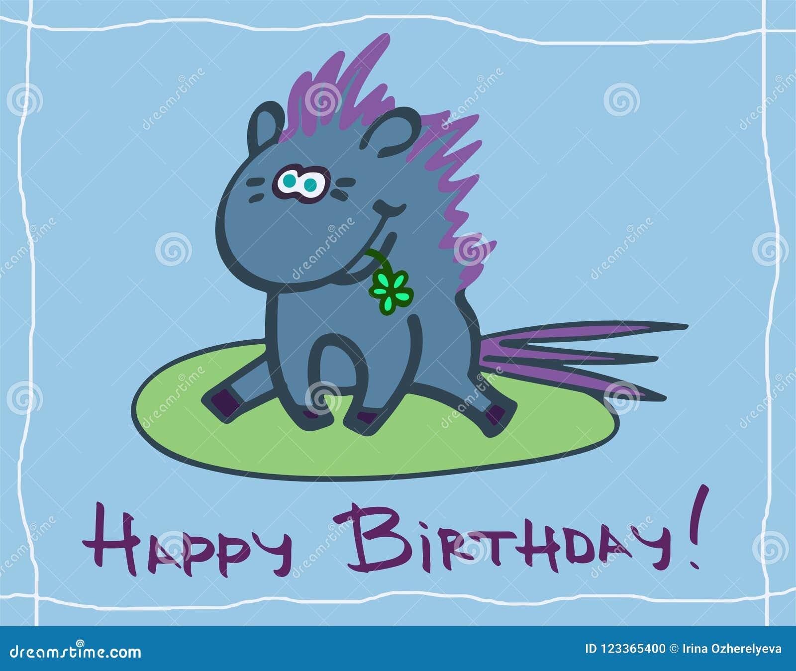 Happy Birthday Greeting Card Stock Illustration Illustration Of Funny Baby 123365400