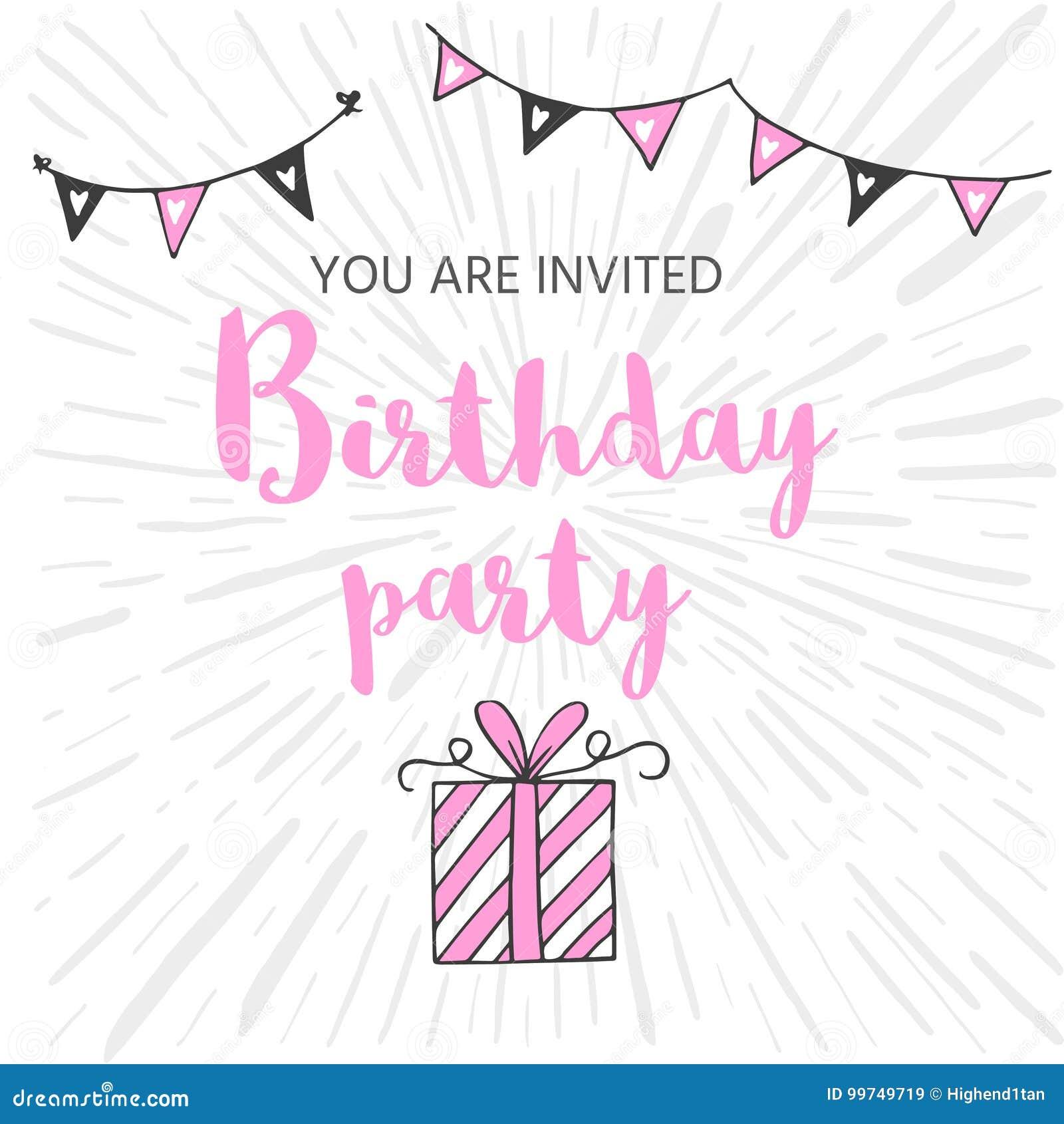 Happy Birthday Greeting Card And Party Invitation Templates Bla