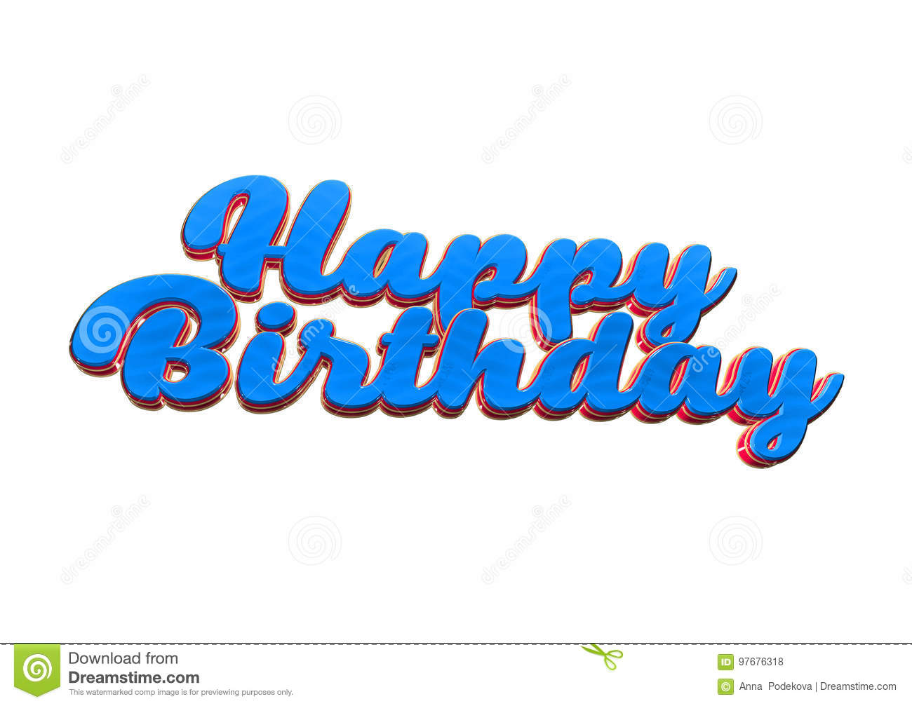 Happy Birthday Greeting Card For A Party With Wishes Stock Photo