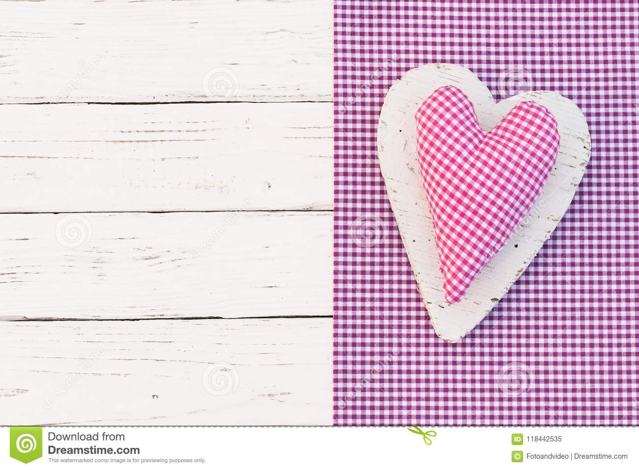 Happy Birthday Greeting Card With Pink Checked Heart Stock Image