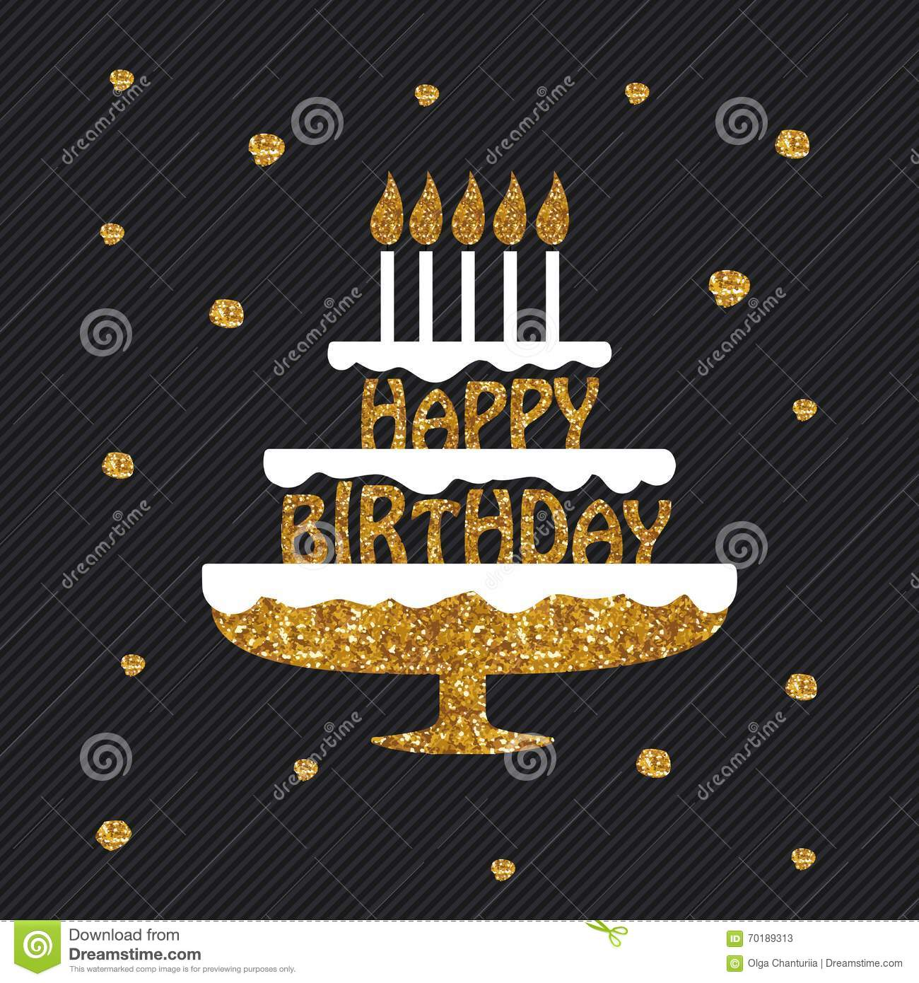 happy birthday greeting card  poster  placard  stock