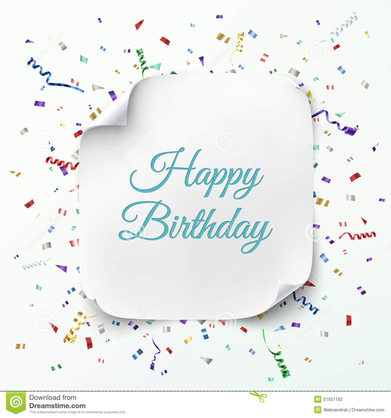 Happy Birthday Greeting Card Template Vector Image 51551192 – Happy Birthday Word Template