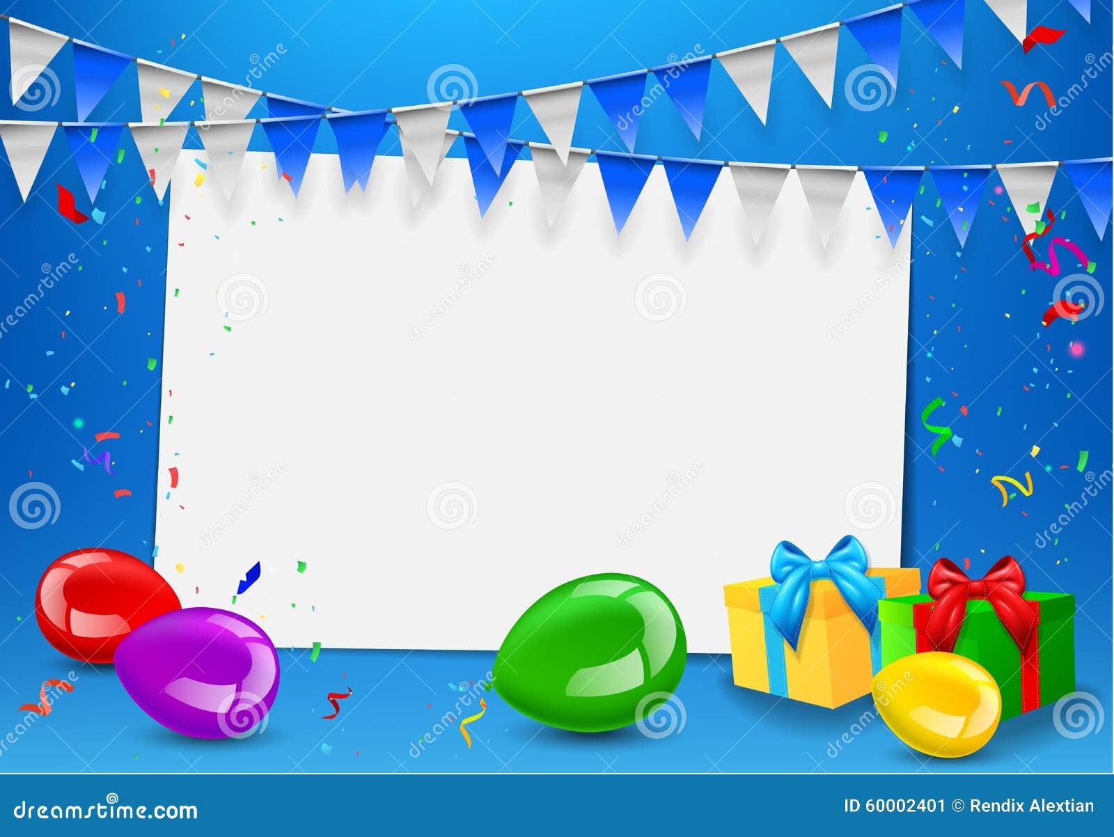 Happy Birthday Greeting Card Stock Illustration Illustration Of Balloons Celebration 60002401