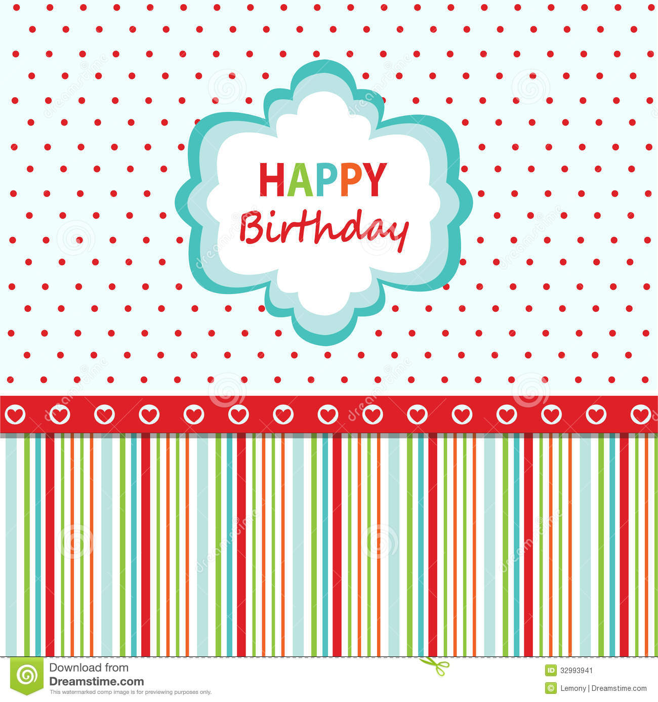 Happy birthday greeting card stock image image 32993941 - Happy birthday card wallpaper ...