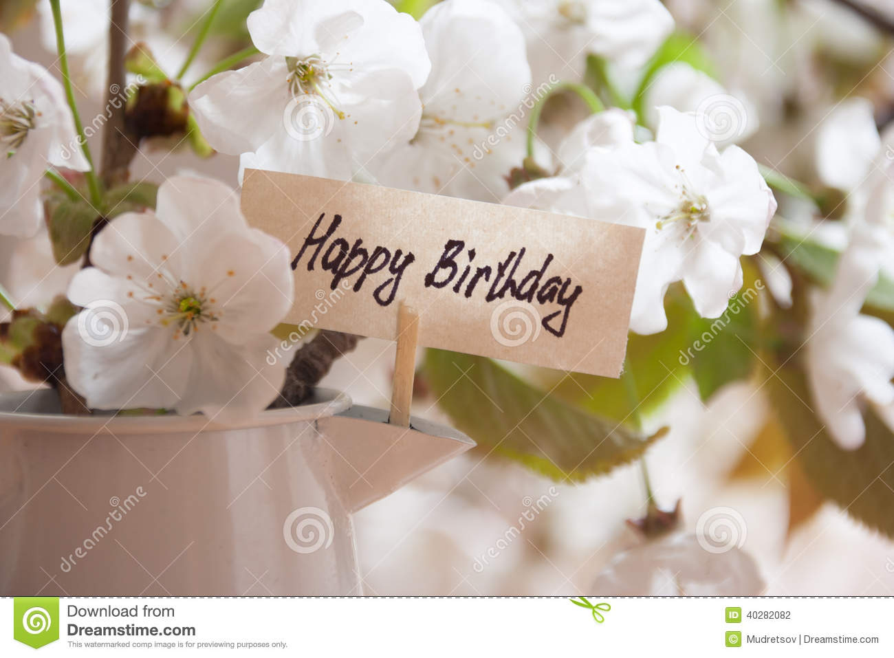Happy Birthday Stock Photo Image Of Card Lettering 40282082