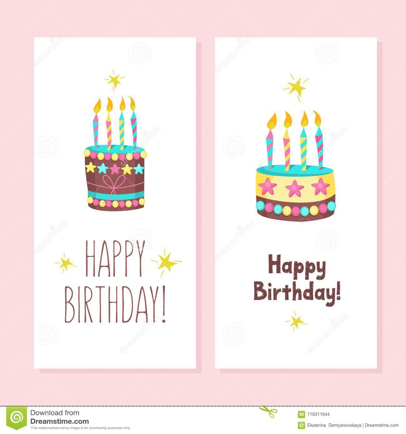 Happy Birthday The Cakes And Pastries Stock Photo Image Of Bakery