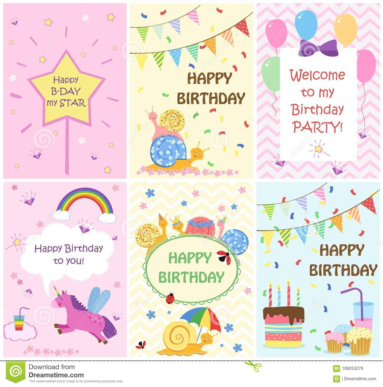 happy birthday greeting cards templates and party invitations for