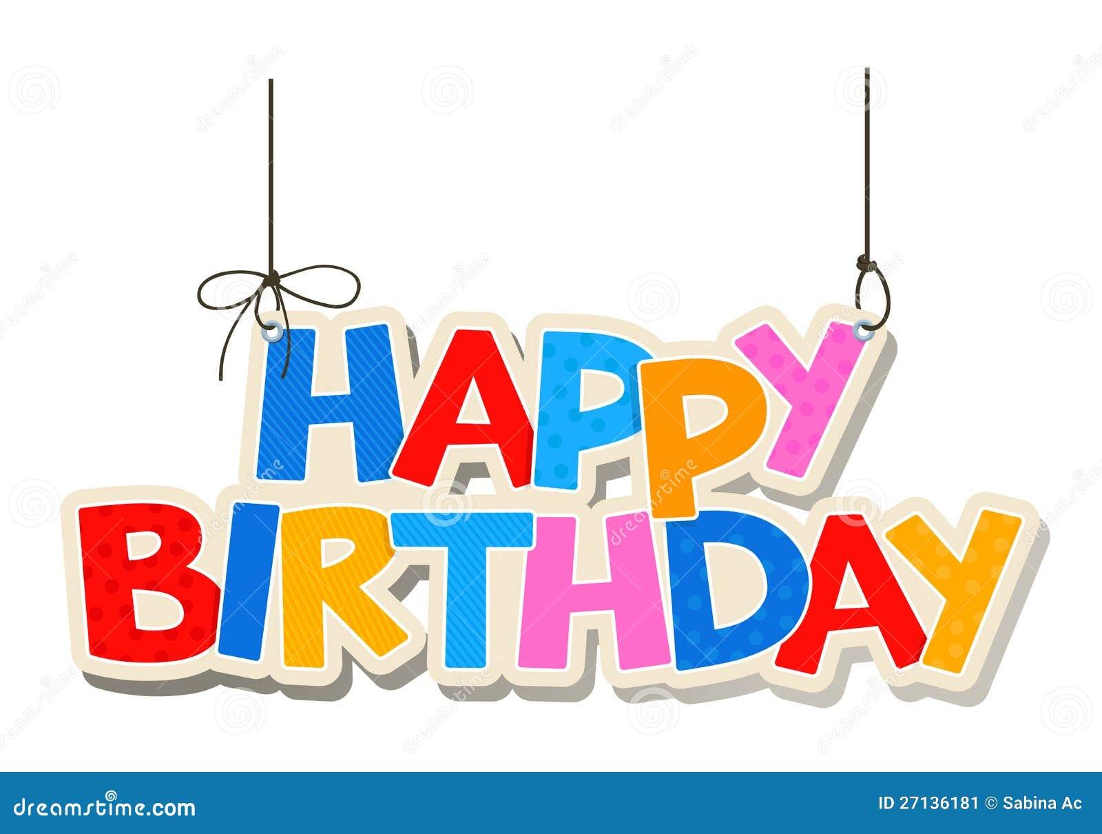 Happy Birthday Greetings Stock Vector Illustration Of Cartoon