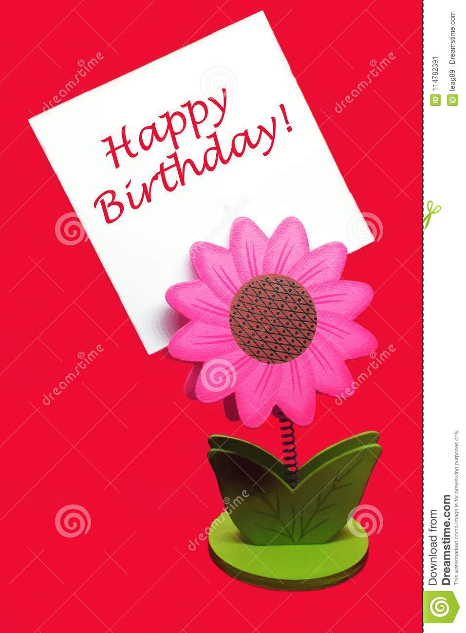 Happy Birthday Greetings Stock Image Image Of Hanging 114782391