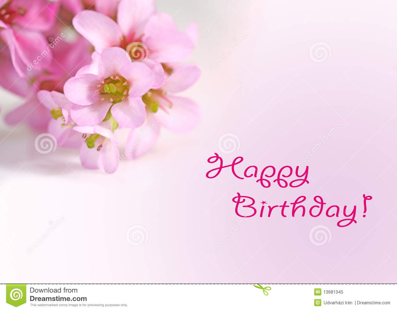 Happy Birthday Greetings Card Flowers Stock Photos 542 Images