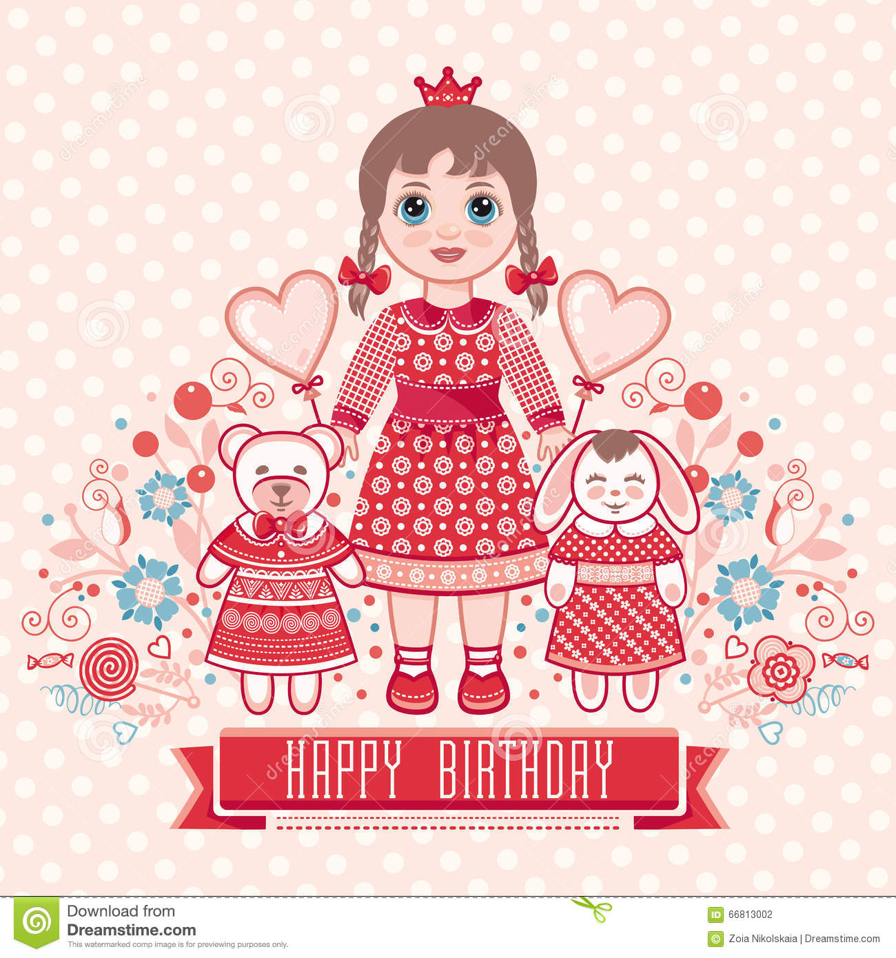 Birthday Cards For Girl gangcraftnet – Happy Birthday Card for Little Girl