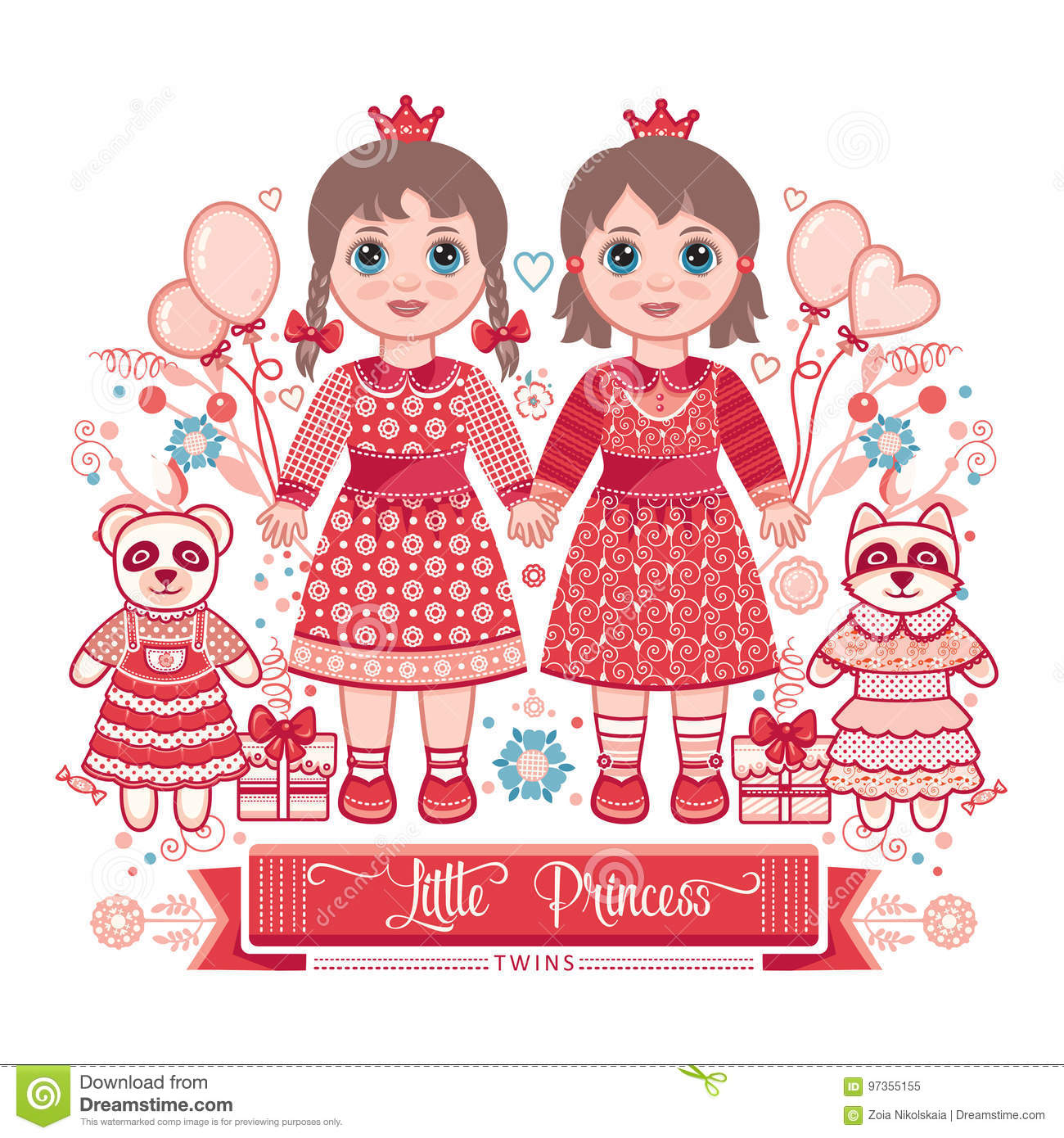 Happy Birthday Greetings Card For Girl Stock Vector