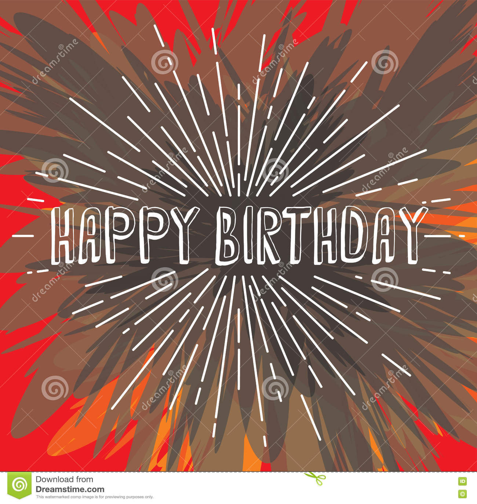 happy birthday greetings sunrays retro theme. Happy Birthday Greetings Sunrays Retro Theme Stock Illustration