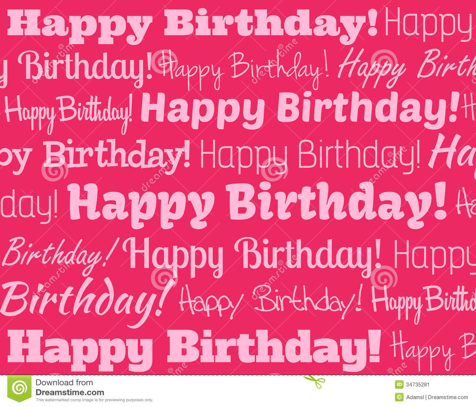 Happy Birthday Stock Vector. Illustration Of Font