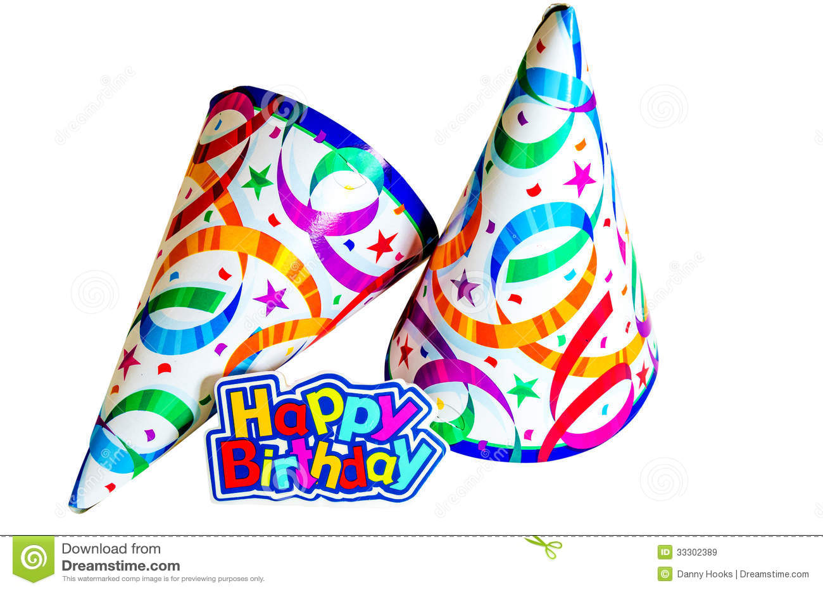 Wonderbaar Happy Birthday with Hats stock image. Image of festive - 33302389 TL-96