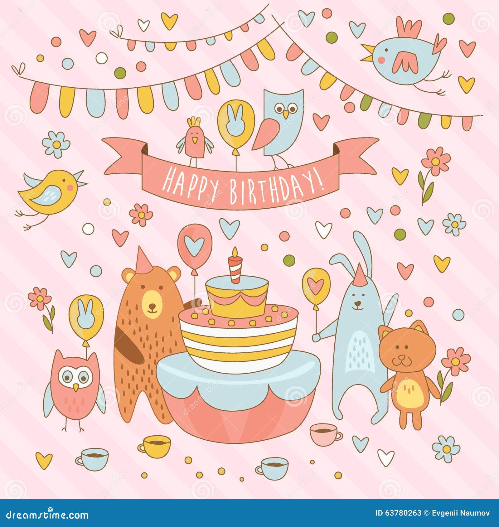 Рисунки открыток с днём рождения 749