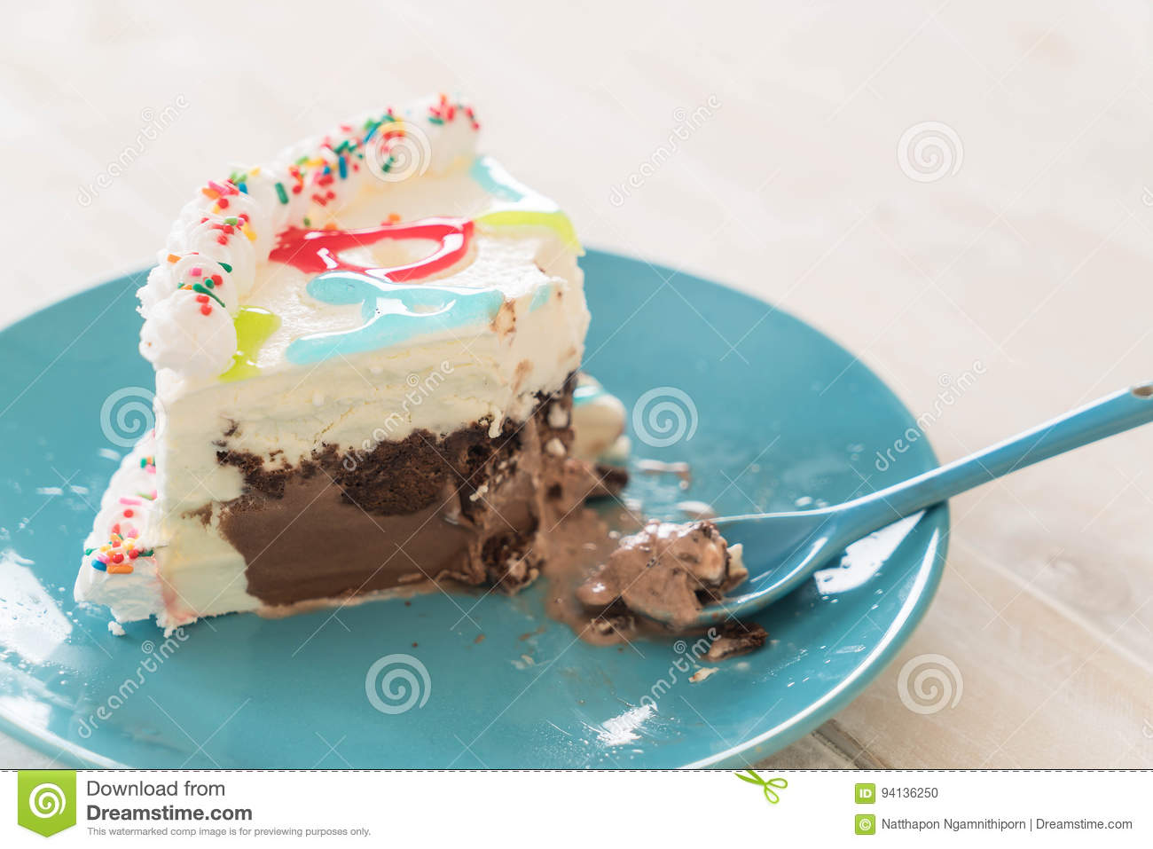 Happy Birthday Ice Cream Cake Stock Photo Image Of Color