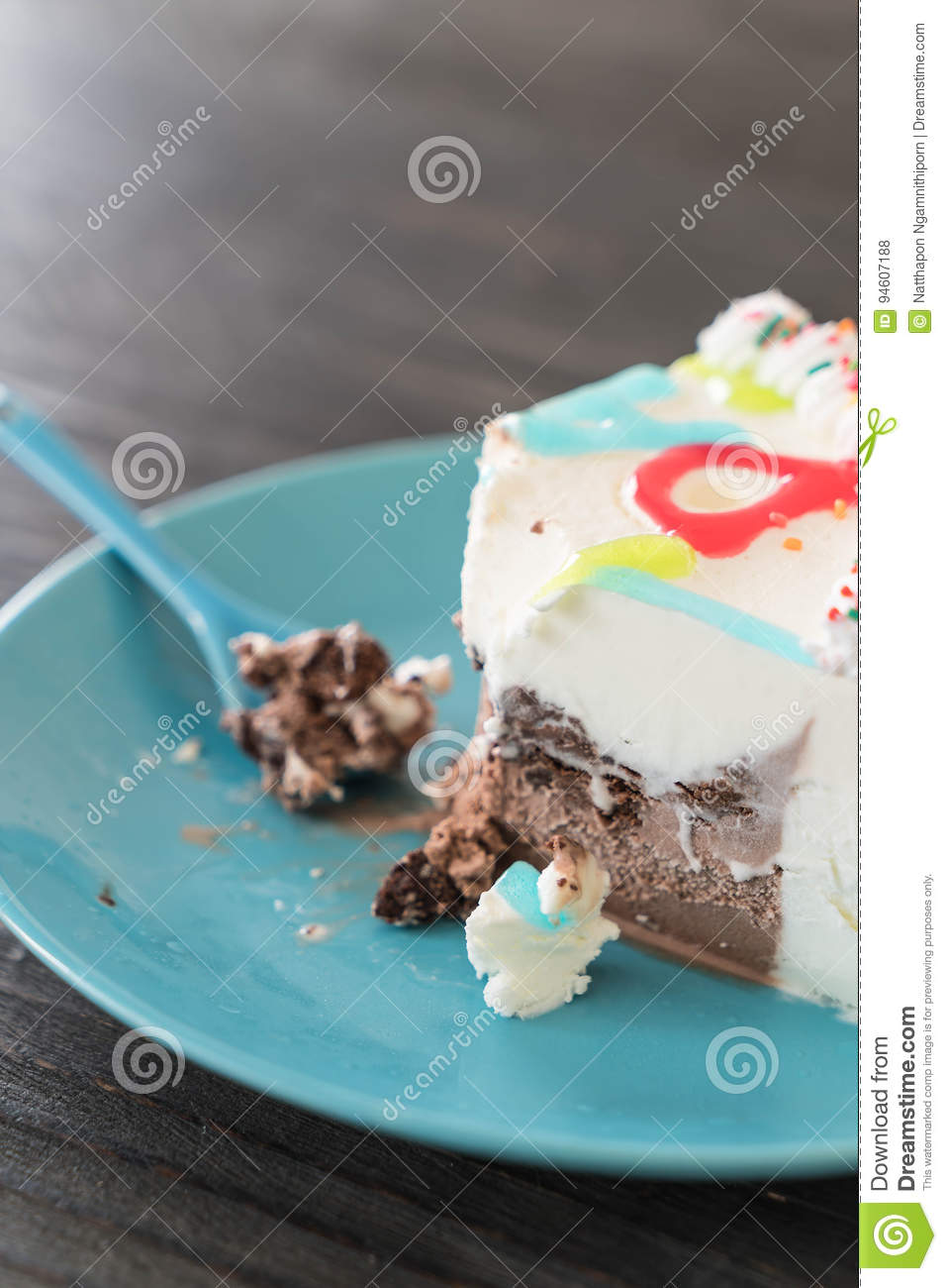 Happy Birthday Ice Cream Cake Stock Photo Image Of Vanilla