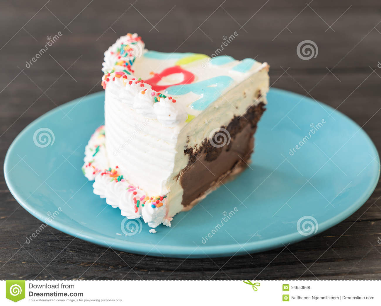 Happy Birthday Ice Cream Cake Stock Photo Image Of Holiday Candle